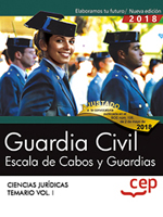 Guardia Civil. Escala de Cabos y Guardias. Temario Vol. I.