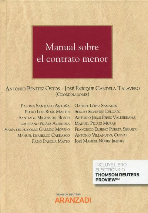 Manual sobre el contrato menor