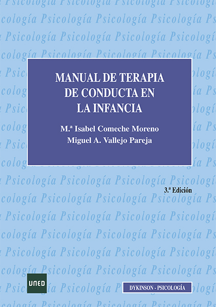 Manual de terapia de conducta en la infancia
