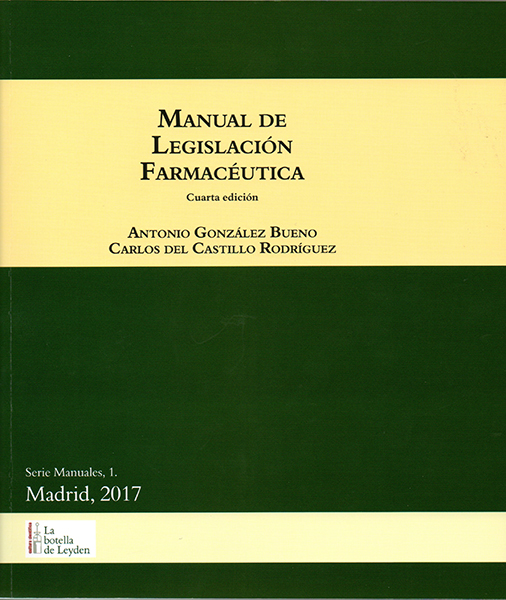 Manual de legislación farmacéutica
