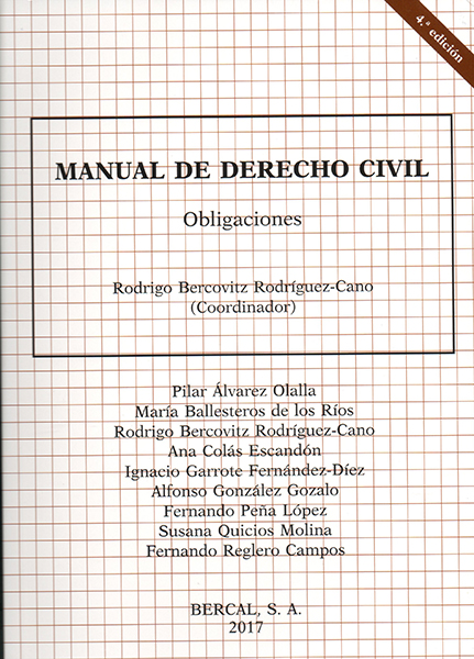Manual de derecho civil. Obligaciones
